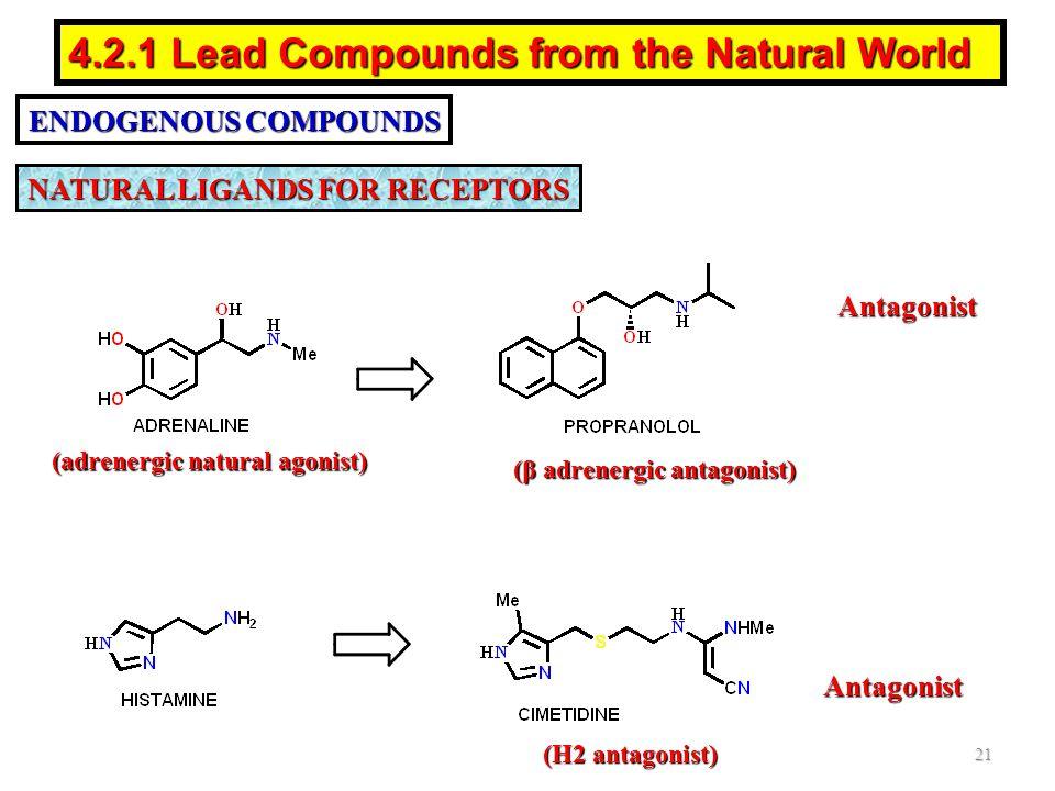 (adrenergic natural agonist) (β adrenergic antagonist)