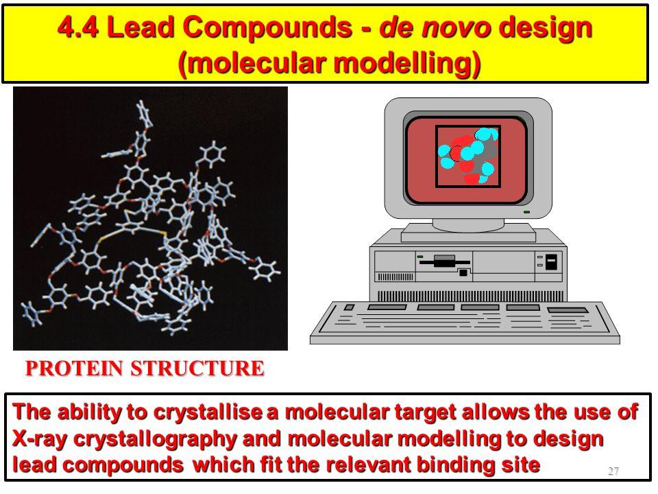 4.4 Lead Compounds - de novo design (molecular modelling)
