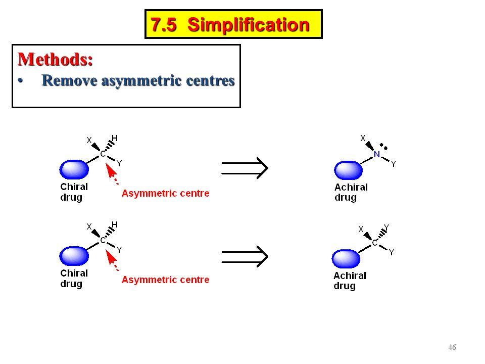 7.5 Simplification Methods: Remove asymmetric centres
