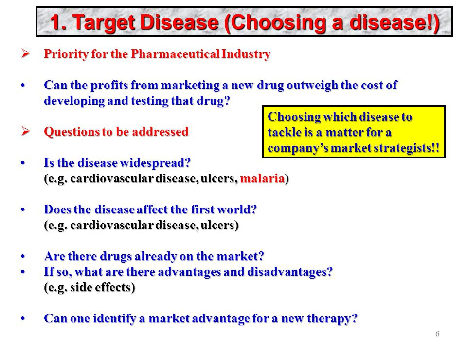 1. Target Disease (Choosing a disease!)