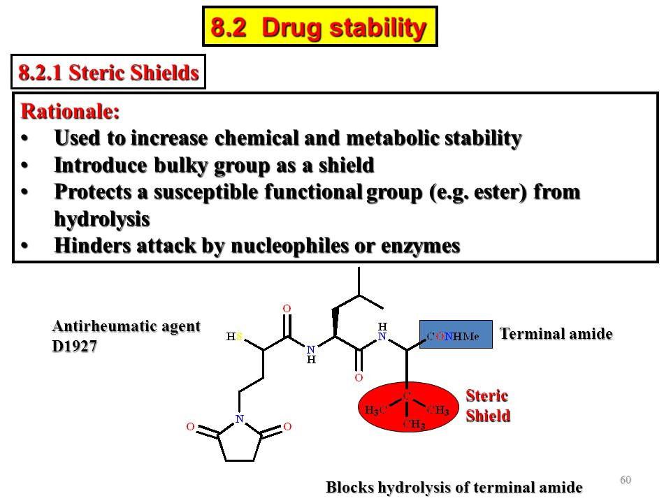 8.2 Drug stability 8.2.1 Steric Shields Rationale: