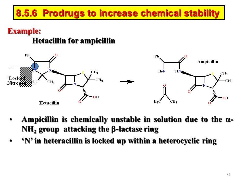 8.5.6 Prodrugs to increase chemical stability