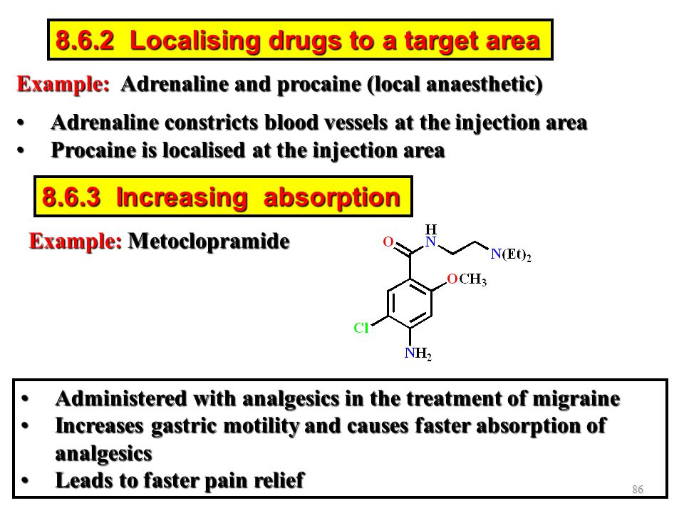 8.6.2 Localising drugs to a target area