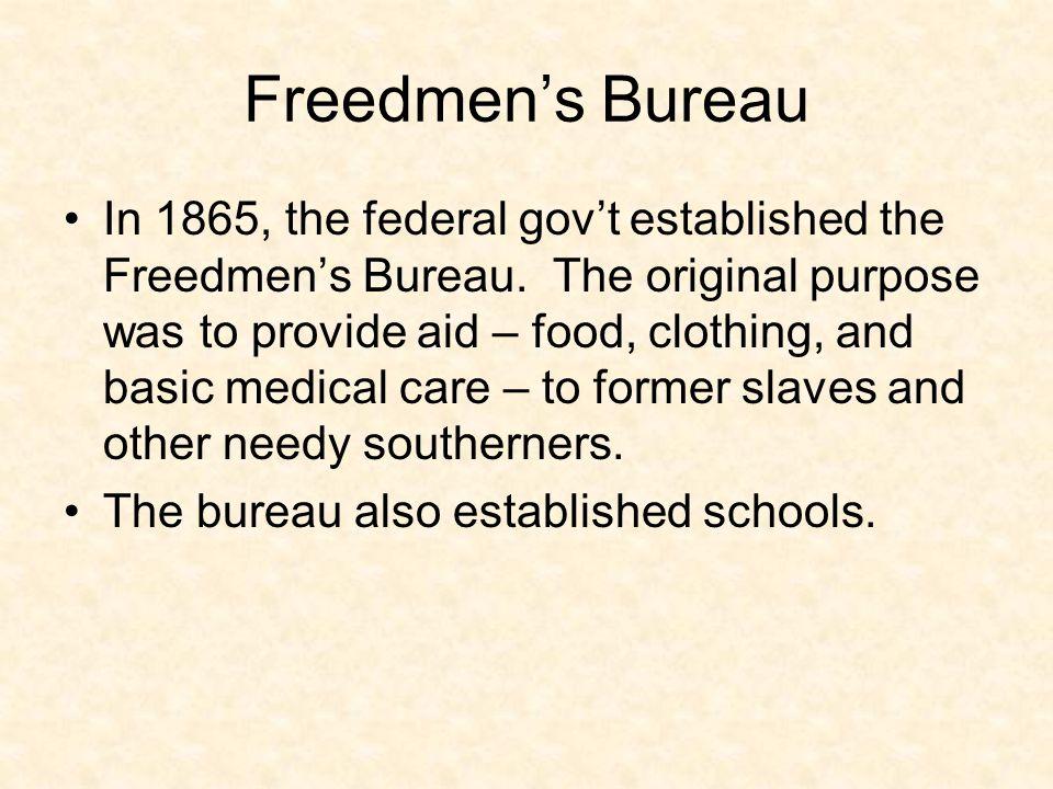 Freedmen's Bureau