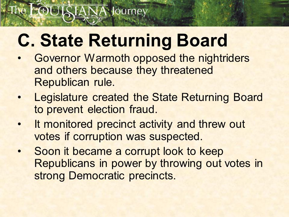 C. State Returning Board