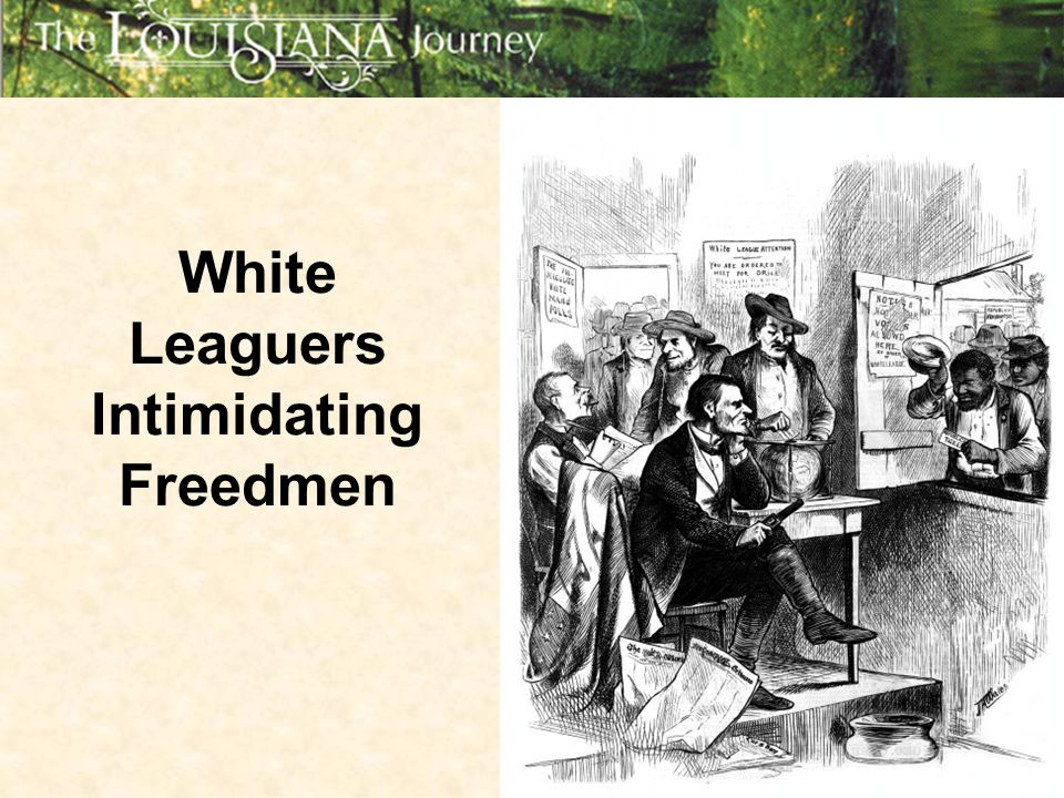 White Leaguers Intimidating Freedmen