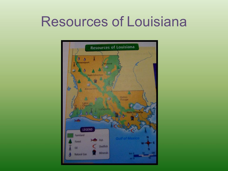 Resources of Louisiana