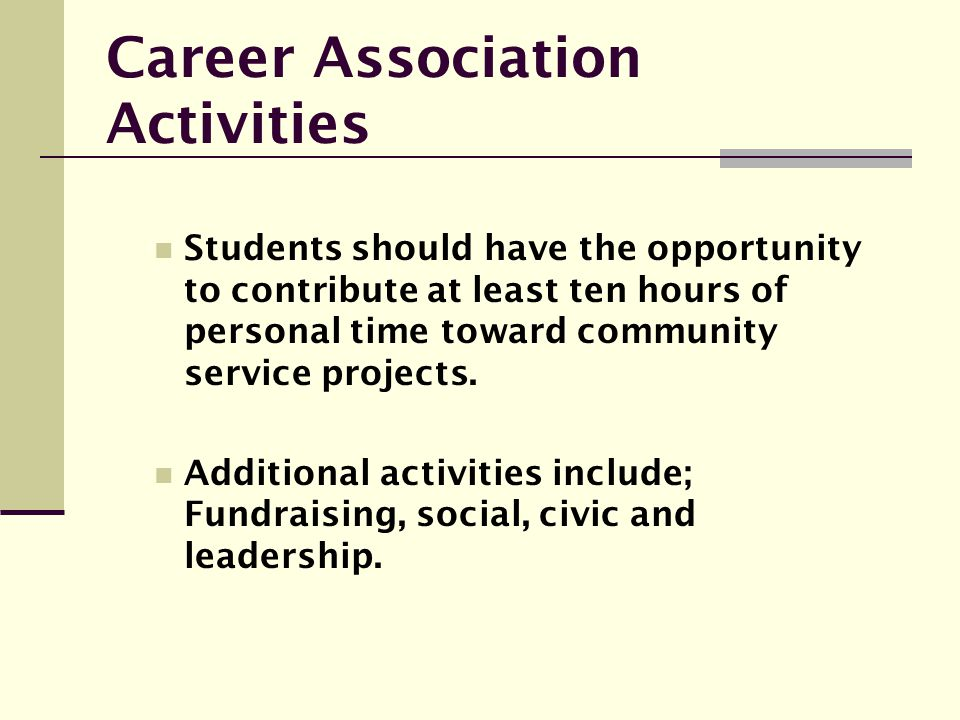 Career Association Activities