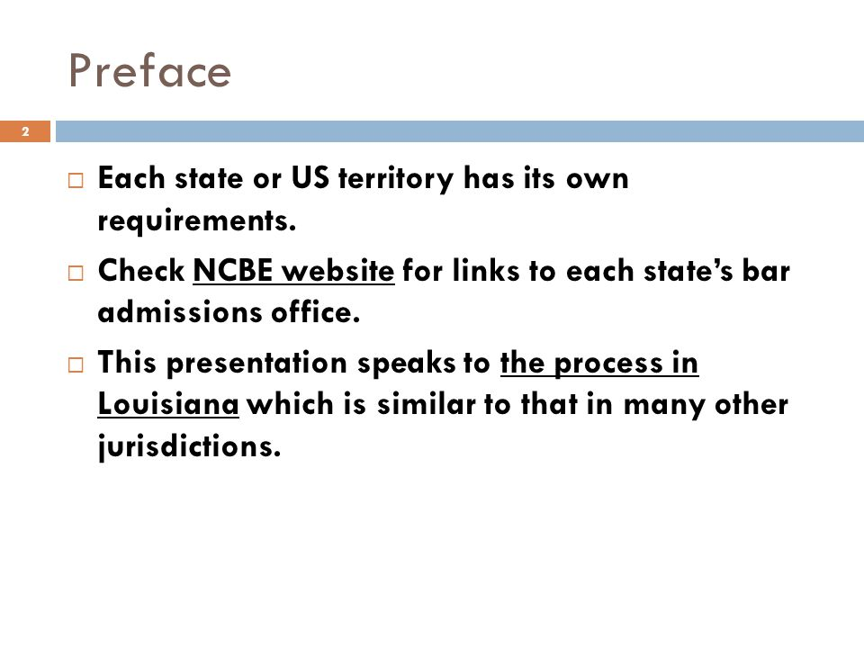 Preface Each state or US territory has its own requirements.
