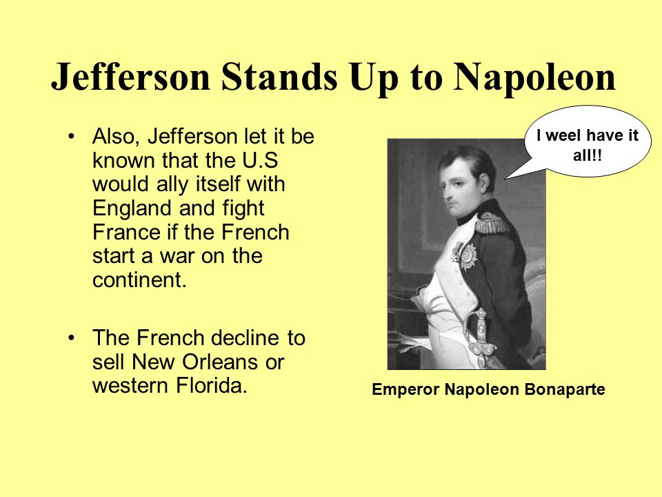 Jefferson Stands Up to Napoleon