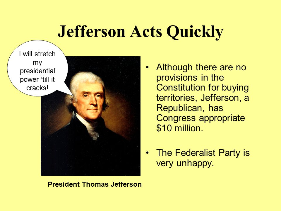 Jefferson Acts Quickly