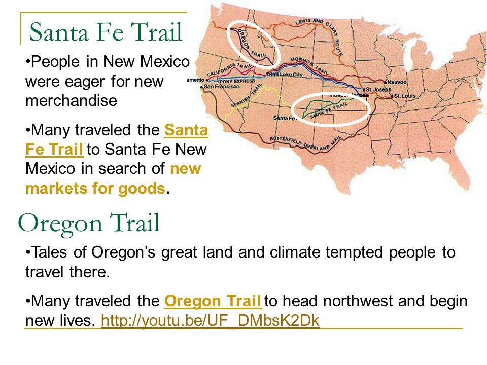 Santa Fe Trail Oregon Trail