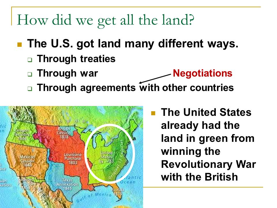 How did we get all the land