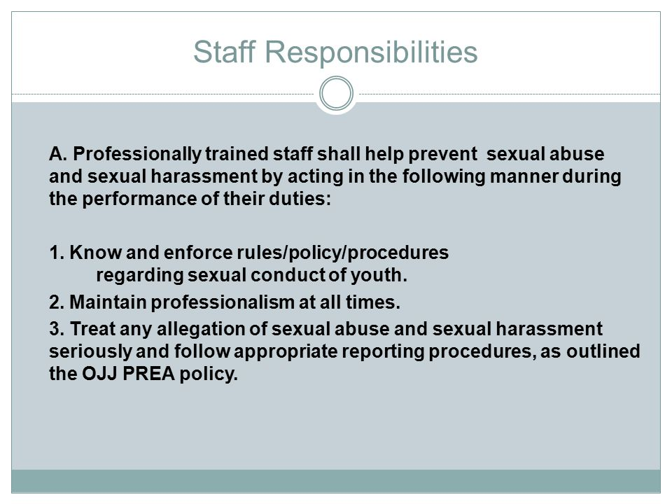 Staff Responsibilities
