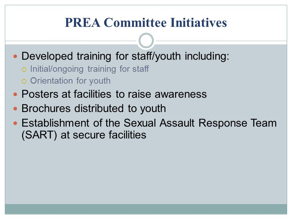 PREA Committee Initiatives
