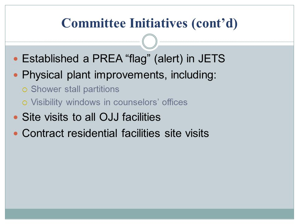 Committee Initiatives (cont'd)