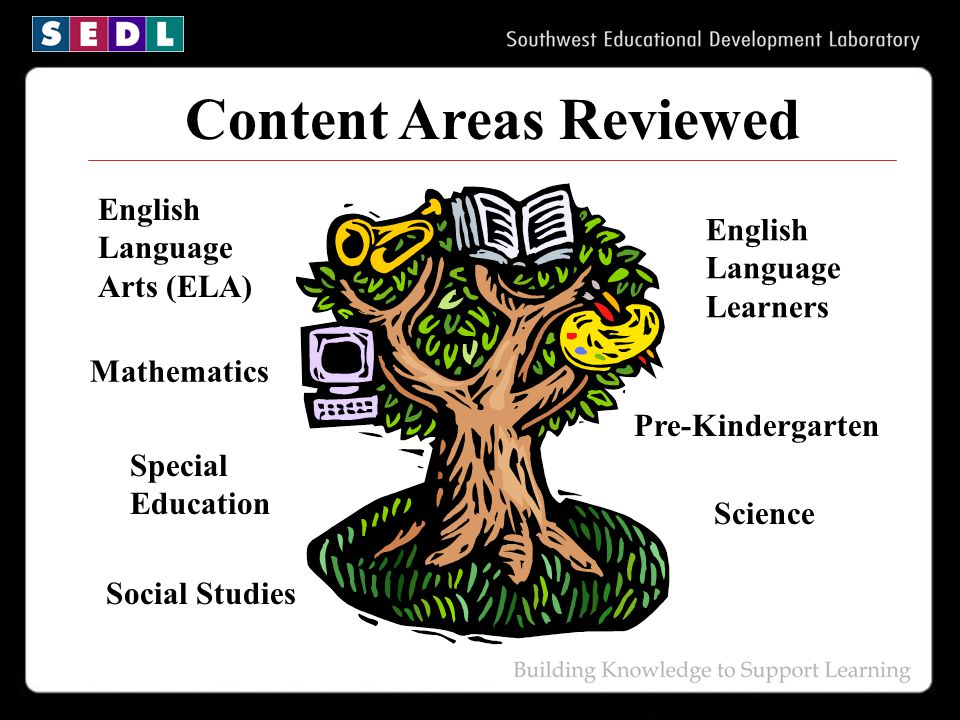 Content Areas Reviewed