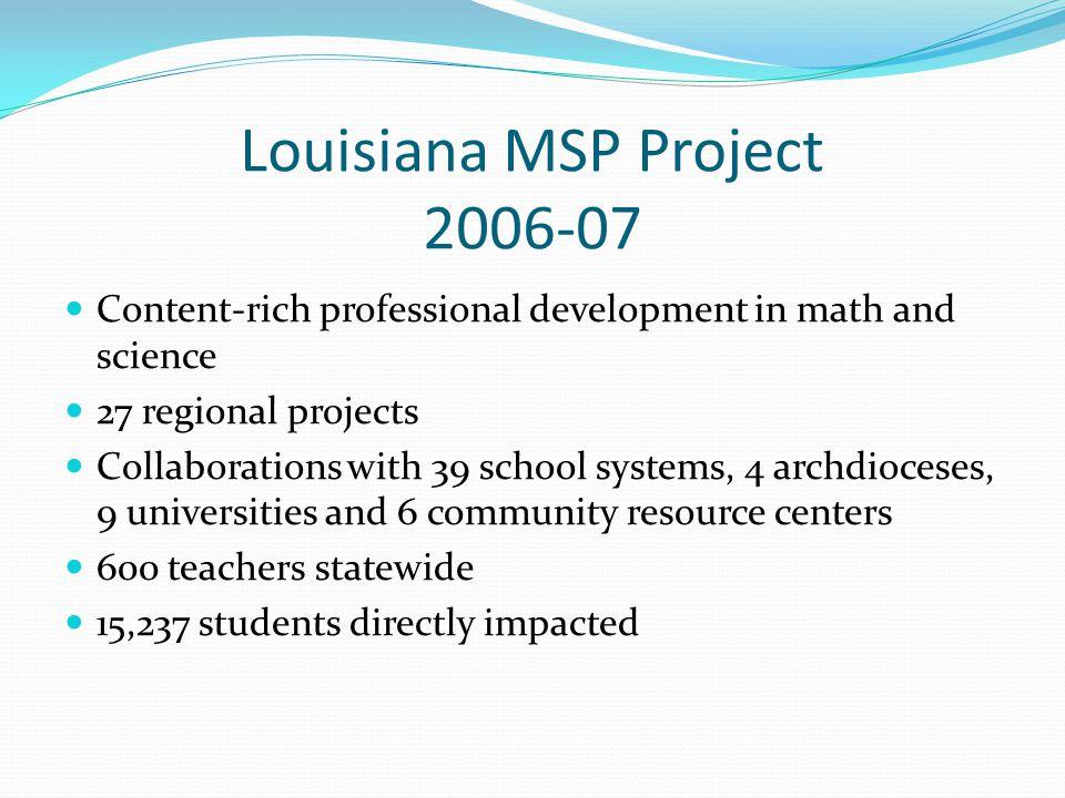 Louisiana MSP Project 2006-07