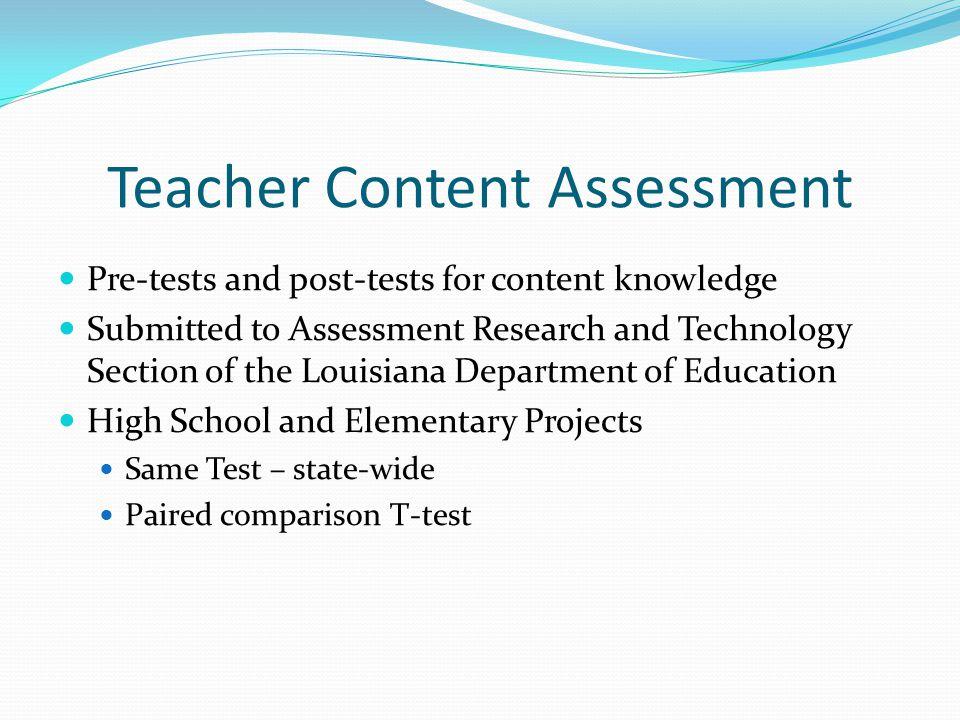 Teacher Content Assessment