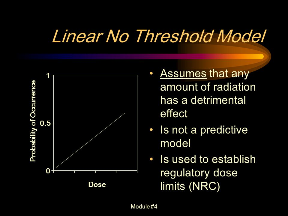 Linear No Threshold Model