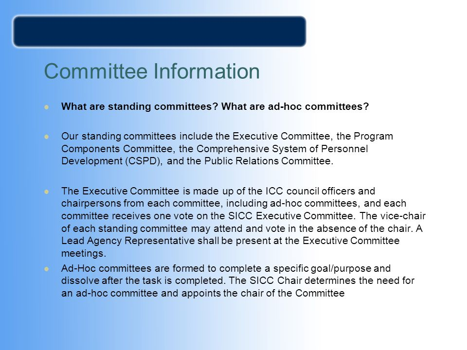 Committee Information