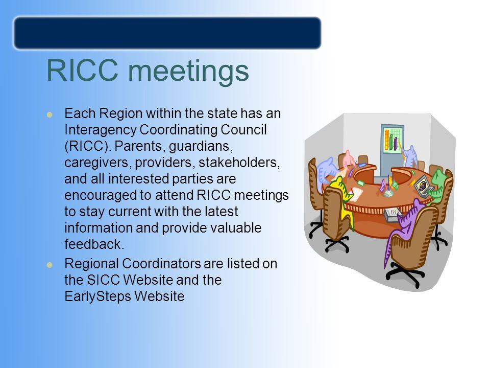 RICC meetings