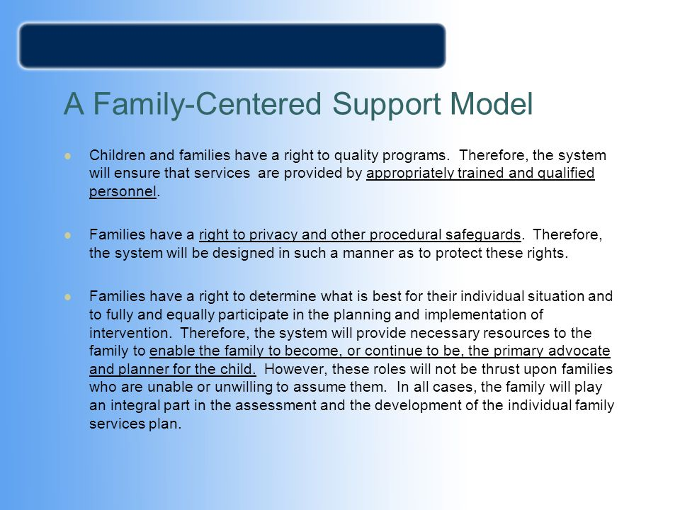 A Family-Centered Support Model