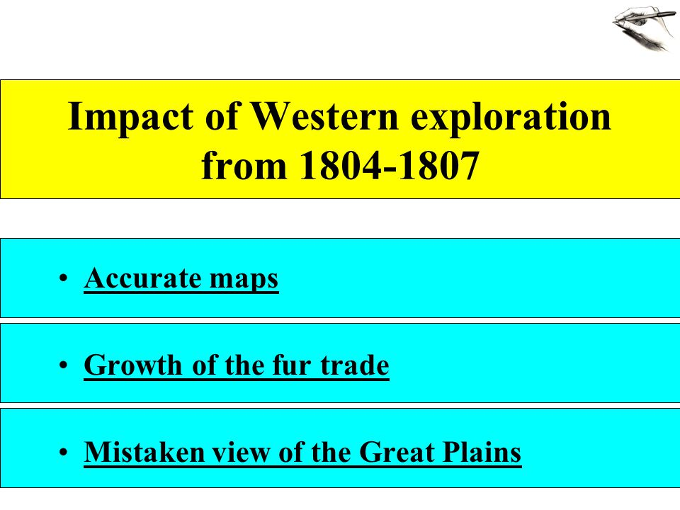 Impact of Western exploration from 1804-1807