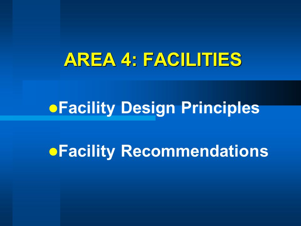 Facility Design Principles Facility Recommendations