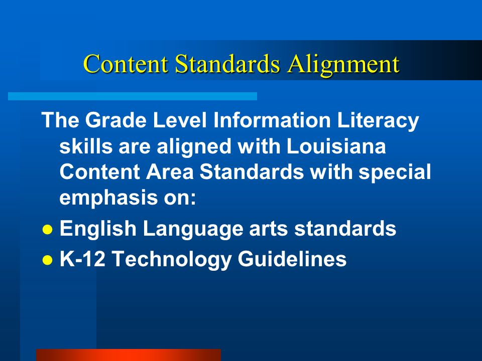 Content Standards Alignment
