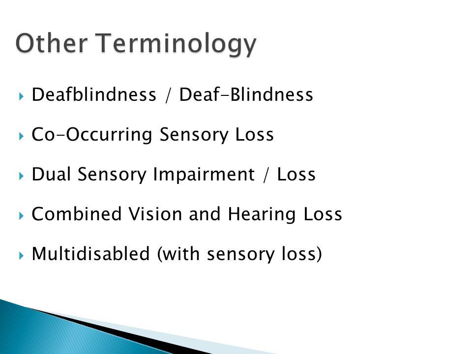 Other Terminology Deafblindness / Deaf-Blindness