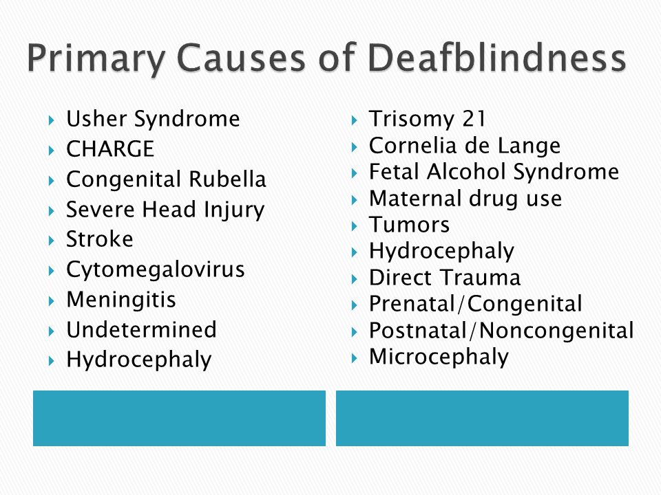 Primary Causes of Deafblindness