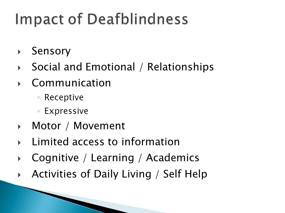Impact of Deafblindness