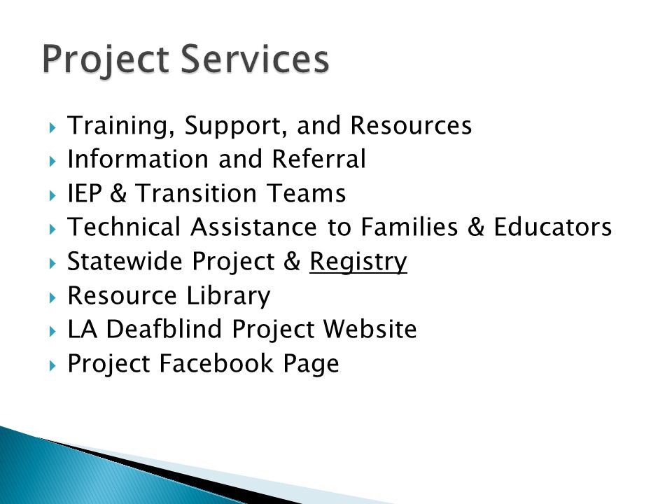 Project Services Training, Support, and Resources