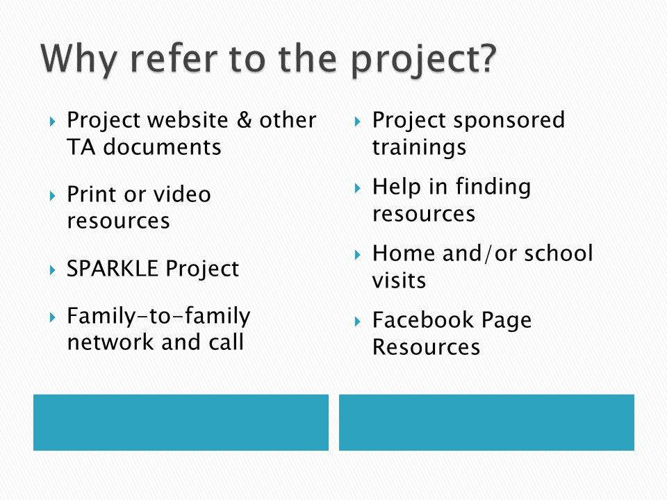 Why refer to the project