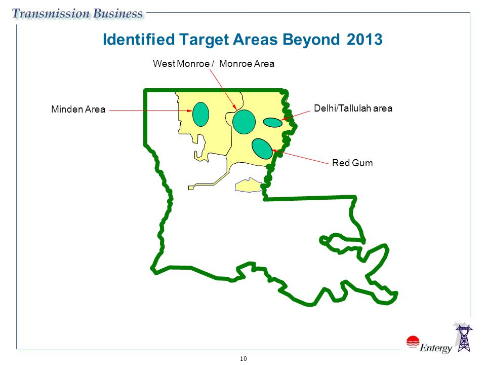 Identified Target Areas Beyond 2013