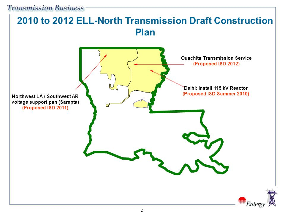 2010 to 2012 ELL-North Transmission Draft Construction Plan