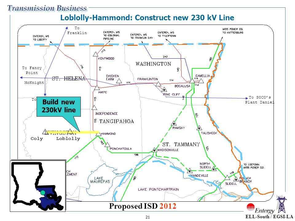 Loblolly-Hammond: Construct new 230 kV Line