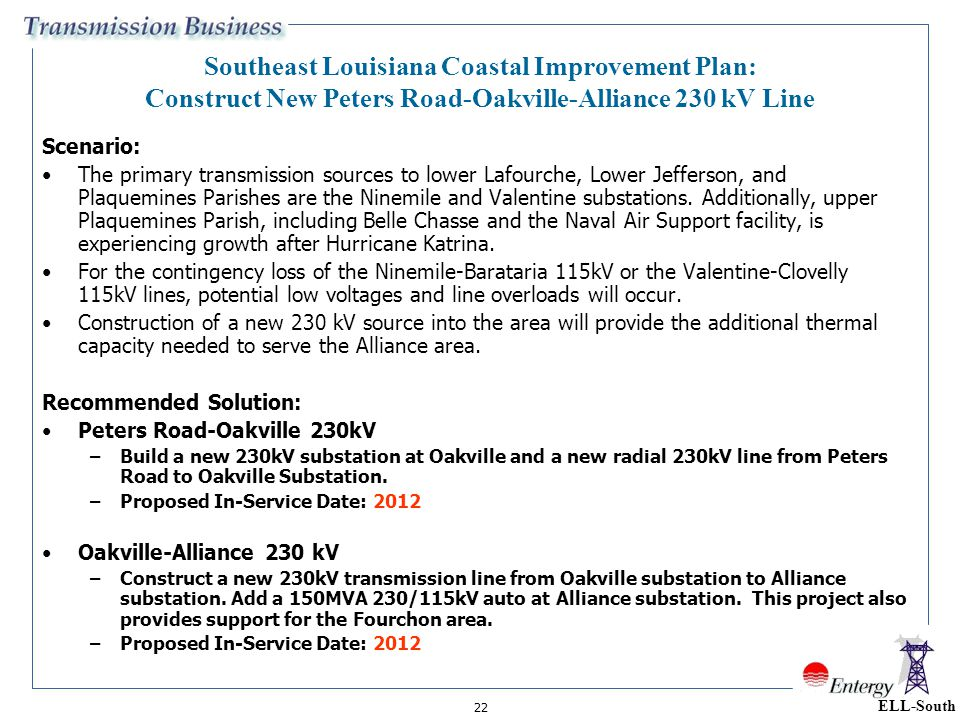 Southeast Louisiana Coastal Improvement Plan: