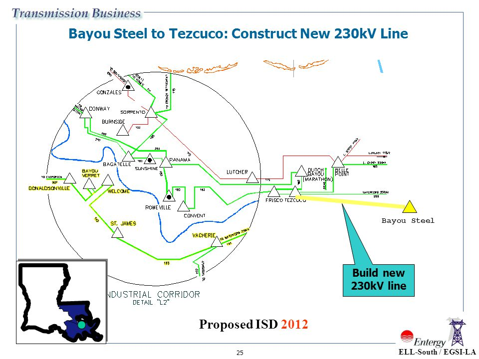 Bayou Steel to Tezcuco: Construct New 230kV Line