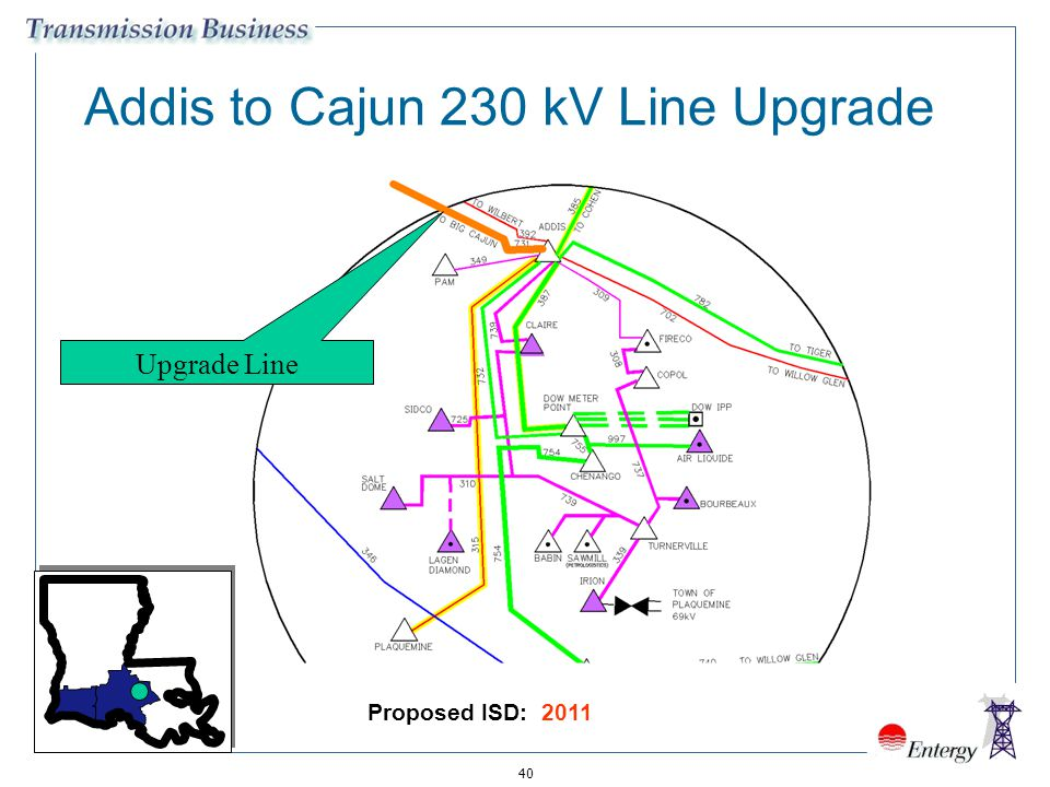 Addis to Cajun 230 kV Line Upgrade