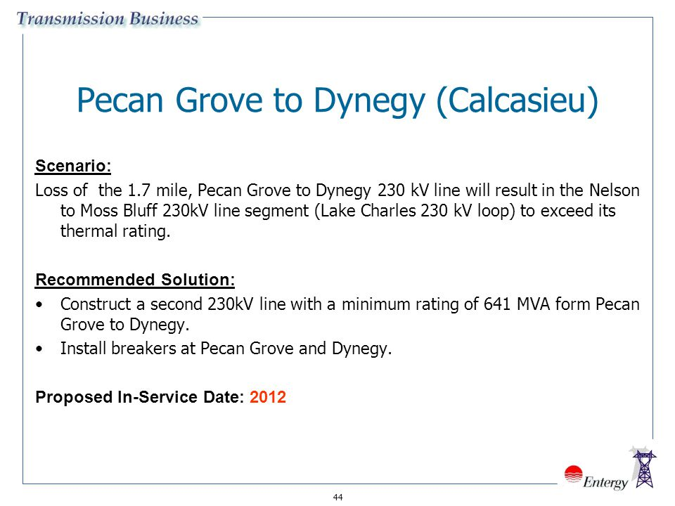 Pecan Grove to Dynegy (Calcasieu)