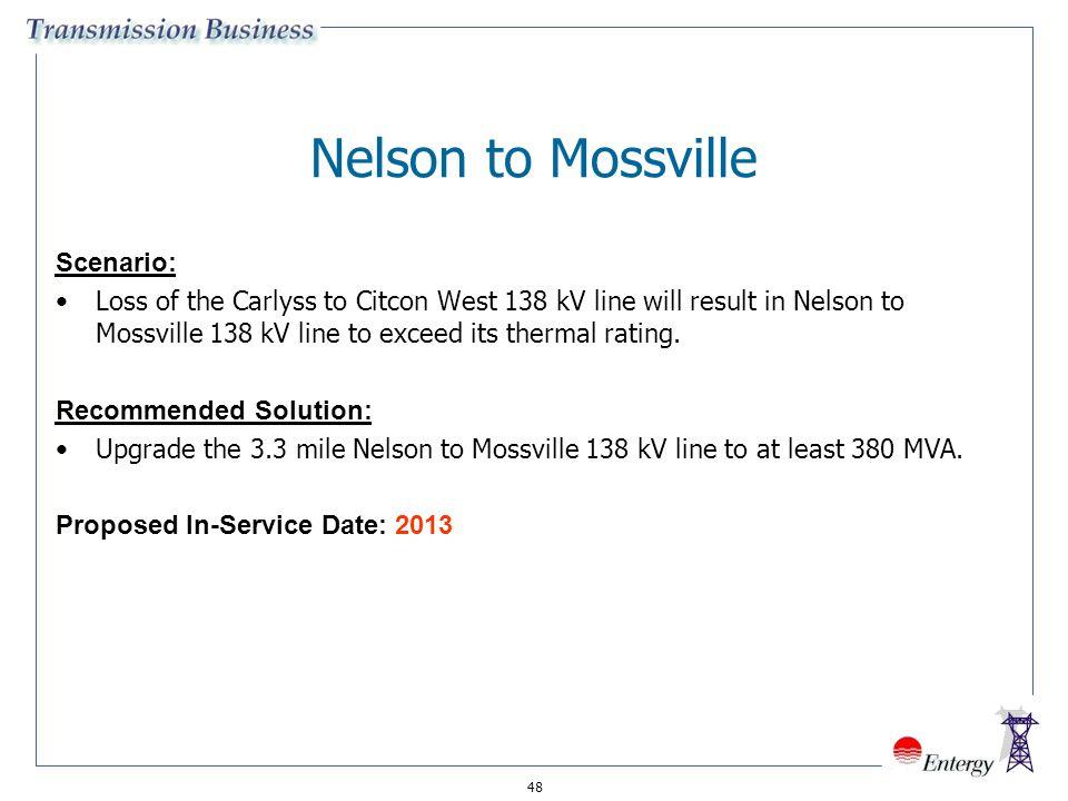 Nelson to Mossville Scenario: