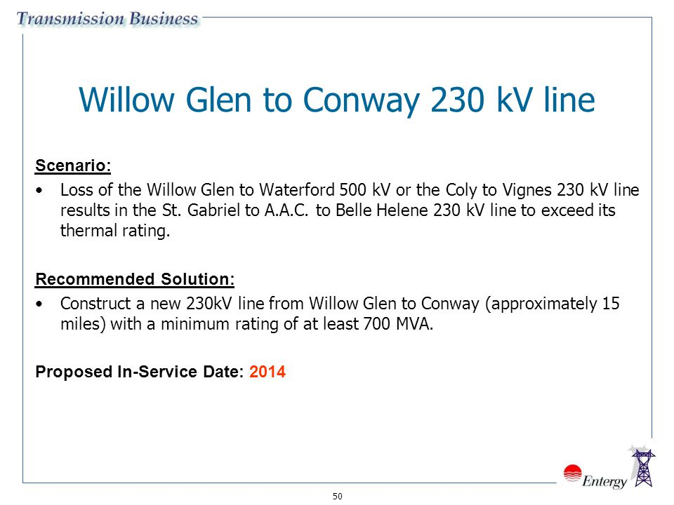 Willow Glen to Conway 230 kV line