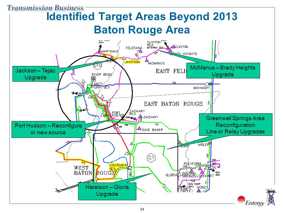 Identified Target Areas Beyond 2013 Baton Rouge Area