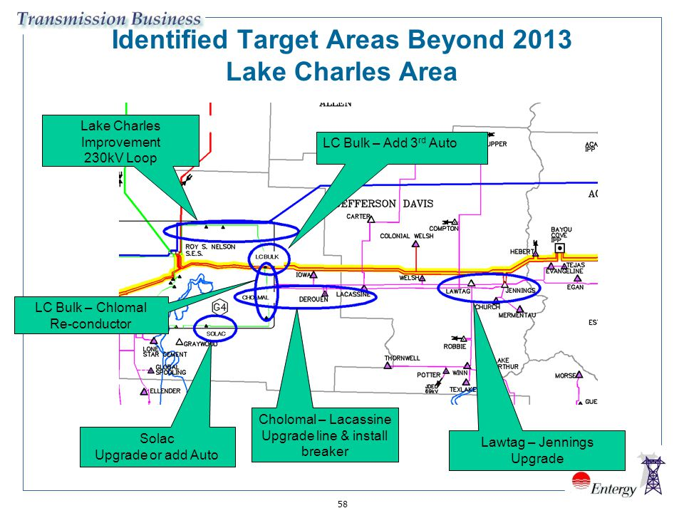 Identified Target Areas Beyond 2013 Lake Charles Area