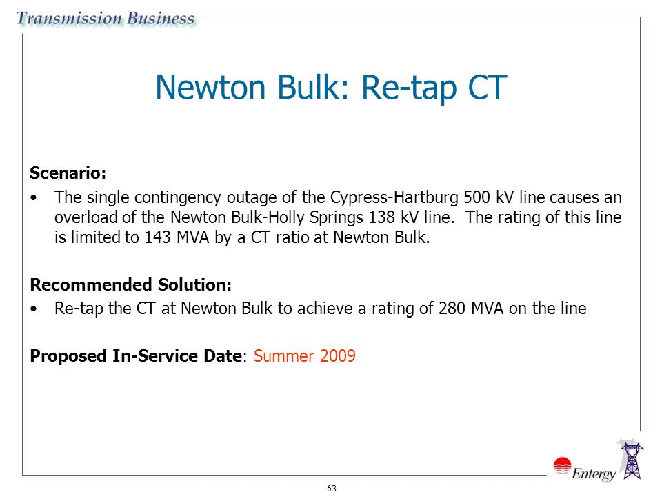 Newton Bulk: Re-tap CT Scenario: