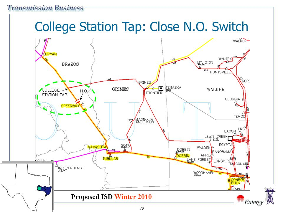 College Station Tap: Close N.O. Switch
