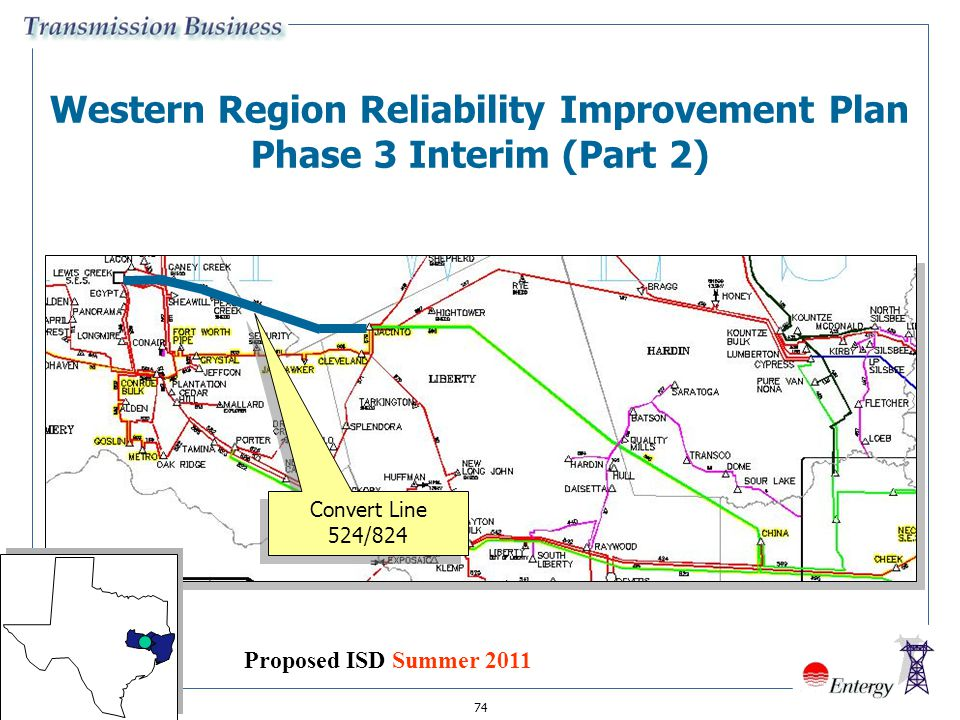 Western Region Reliability Improvement Plan Phase 3 Interim (Part 2)