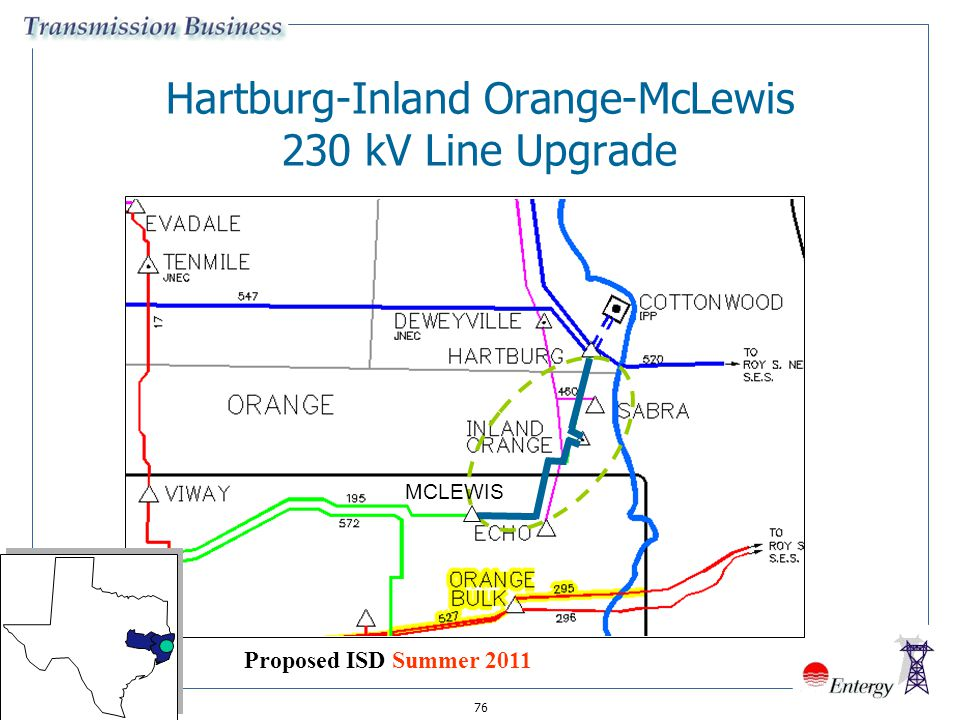 Hartburg-Inland Orange-McLewis 230 kV Line Upgrade